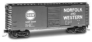 Micro Trains N 20039, 40' Standard Box Car, Single Door, Norfolk & Western N&W #53045 (N Scale)