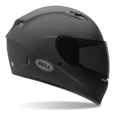 Bell Solid Adult Qualifier Street Bike Racing Motorcycle Helmet - Matte Black - Large