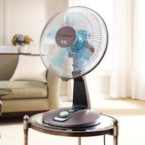 Rowenta VU2531 Turbo Silence 4-Speed Oscillating Desk Fan ...