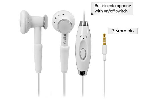 Samsung Galaxy S5 White High Fidelity Stereo Headphones With Hands Free Microphone And Send/End Button