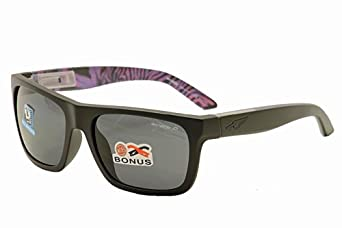 Arnette Dropout AN4176 4176 222881 Matte Black Purple Rectangle Sunglasses 58mm by Arnette