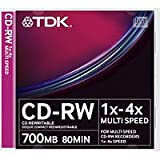 TDK - 1 x CD-RW 700 MB ( 80min ) 4x - jewel case - storage media