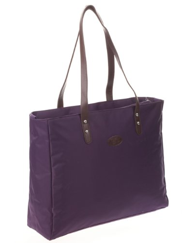 Bellotte Designer Shopper Tote Diaper Bag in Plum - 1