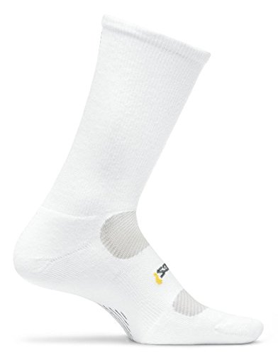 Feetures Women'S Light Cushion Crew Socks, Small (4-6.5), White