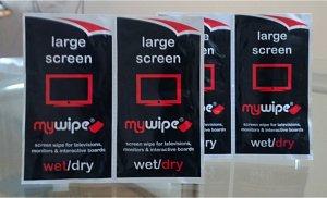 MYWIPE & nuovo Wet Dry EXTRA LARGE per TV e schermi, confezione da 50/LED, OLED, Plasma & School Interactive Smartboard per la pulizia