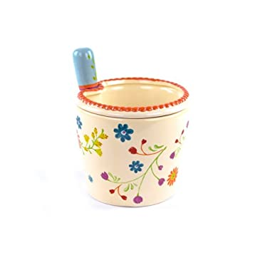 Ceramic Floral Dip Chiller & Spreader