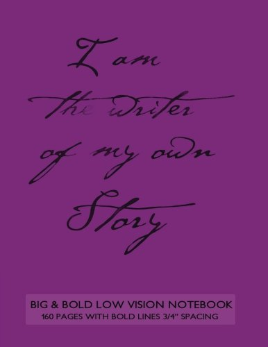 Big & Bold Low Vision Notebook 160 Pages with Bold Lines 3/4 Inch Spacing: 8.5