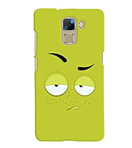 ColourCrust Huawei Honor 7 / Dual Sim / Enhanced Edition Mobile Phone Back Cover With Smiley Expression - Durable Matte Finish Hard Plastic Slim Case