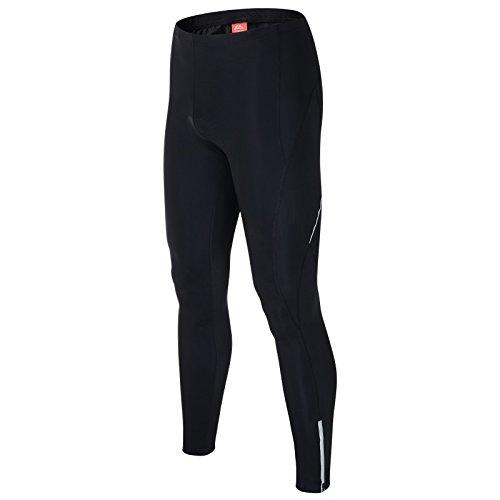 """ALLY Pantaloncini ciclismo bici invernale Pantaloni corti Gel 3D ha riempito da Uomo con Funzione traspirante Asciugatura rapida (Black/Black, XL """"34-36"""")"""