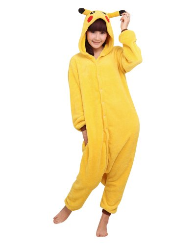 Keral Kigurumi Pigiama Adulto Anime Cosplay Halloween Costume Attrezzatura_Pikachu_M