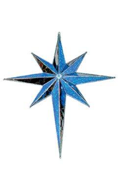 72 LED Lighted Blue Moravian Star Hanging Christmas Light Decoration