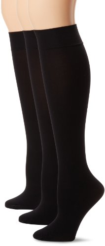 HUE Women's Soft Opaque Knee High Socks (Pack of 3)