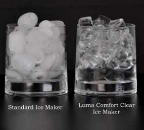 Clear ice from the Luma Comfort IM200SS