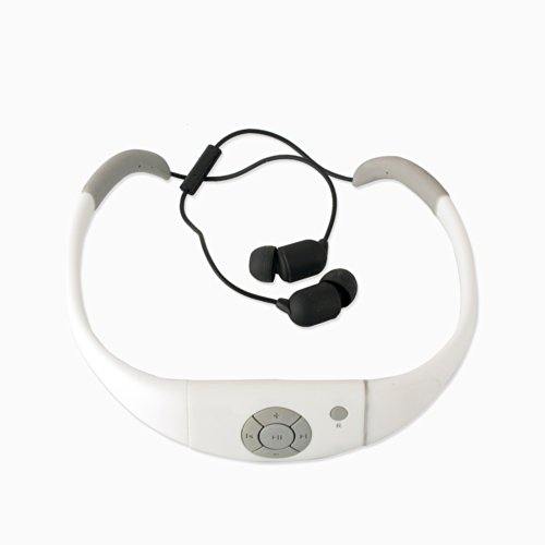 Expower(R) Ipx8 Waterproof Bluetooth Headset/Headphone/Mic For Water Sport/Swimming/Iphone/Samsung Smartphone And Google Smartphone (White)
