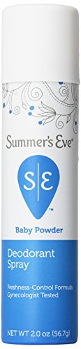 Summer's Eve Deodorant Spray, Baby Powder, 2 Ounce (Pack of 6) (Spray Baby Powder compare prices)