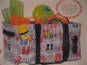 Thirty One Deluxe Utility Tote In Fun Flops - 4441 - No Monogram front-509884