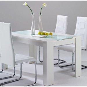 design 120 x 80 esstisch esszimmertisc h tisch weiss glas weiss. Black Bedroom Furniture Sets. Home Design Ideas