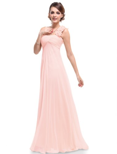 HE09766PK12, Pink, 10US, Ever Pretty Maxi Long Bridal Dresses For Juniors 09766