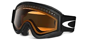 Oakley Unisex-Adult L Frame Snow Goggle(Black,Persimmon)