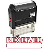 RECEIVED Self Inking Rubber Stamp - Red Ink (42A1539WEB-R)