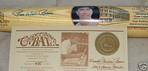 PEE WEE REESE AUTOGRAPH BAT FAMOUS PLAYER BROOKLYN by Bud