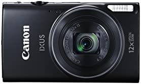 Canon IXUS 275 HS Compact Digital Camera - Black (20.2 MP, 12x Optical Zoom, 24x ZoomPlus, Wi-Fi, NFC) 3-Inch LCD