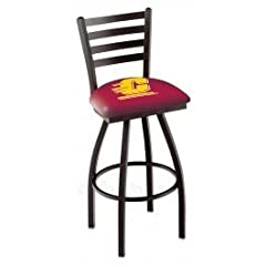 Buy Central Michigan Chippewas Swivel Bar Stool with Ladder Back by Covers HBS