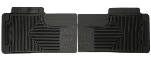 Husky Liners Custom Fit Heavy Duty Rubber Rear Floor Mat - Pack Of 2 (Black)