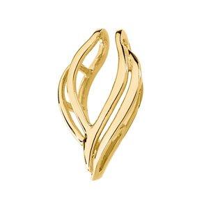 14k Yellow Gold Pendant Enhancer 24x14mm - JewelryWeb
