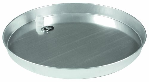 "Camco 20841 22"" Id Aluminum Water Heater Drain Pan, Non-Punched, W/Pvc Fitting front-624756"