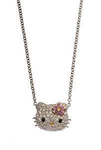"Hello Kitty ""Simply Kitty"" Tri-Colored Pendant Necklace , 18"""