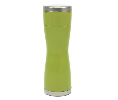 Tea Pot Bottle 地球にやさしい茶こし付き携帯茶器 グリーン ≪静岡茶商工業共同組合とデザイン集団nendoの共同開発≫
