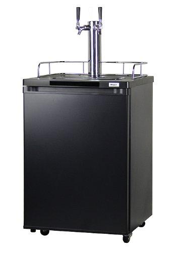 kegco k209b 2 full size kegerator double faucet d system. Black Bedroom Furniture Sets. Home Design Ideas