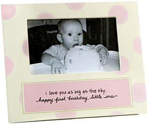 Baby Girl 1st Birthday Frame