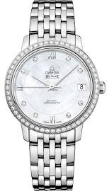 Omega De Ville Mother of Pearl Dial Diamond Stainless Steel Ladies Watch 42415332055001