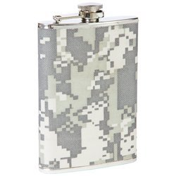 Maxam® 8oz Stainless Steel Flask with Digital Camo Wrap