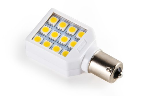 Camco 54604 1141 Bright White Light Led Bulb With White Swivel Housing