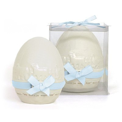 Country Nest Egg Bank Color: Blue - 1