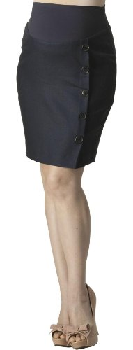 Rosie Pope Maternity Button Front Linen Skirt