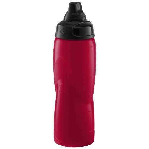 Zak Designs Planet Zak Twist Top Squeezable Sports Bottle, 24-Ounce, Red front-848259