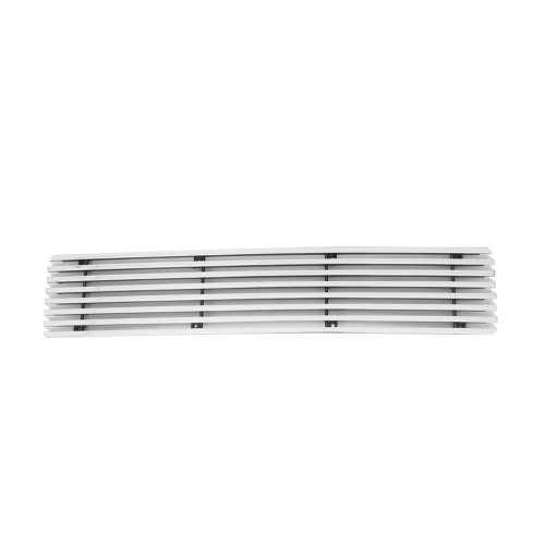 E-Autogrilles Aluminum Polished 8mm Horizontal Overlay Bumper Billet Grille for 08-10 Ford Super Duty F-250/F-350 (1PC) (38-1146) (08 Ford F250 Super Duty Grill compare prices)