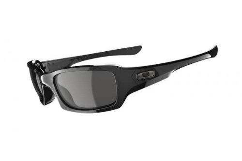 Oakley Unisex Fives Squared Oo9079 Polished Black Frame/Grey Lens Plastic Sunglasses