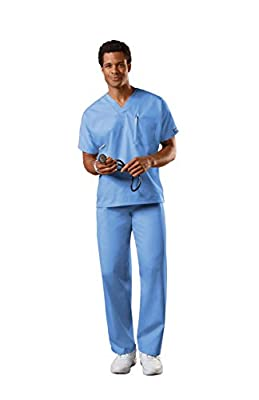 Cherokee Uniforms Authentic Workwear Unisex Scrub Set (Ceil, M)