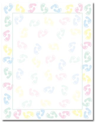 Baby Feet Baby Letterhead Papers