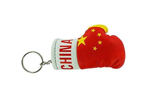 Porta chiavi Portachiavi Portachiavi bandiera Cina cinesi guanto da boxe inglese