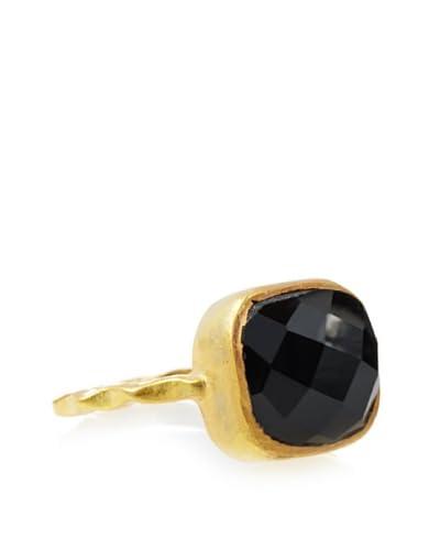 Liv Oliver Onyx Cushion Shape Ring