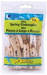 """Bulk Buy: Loew-Cornell Mini Spring Clothespins 2 1/2"""" 24/Pkg 1021179 (6-Pack)"""