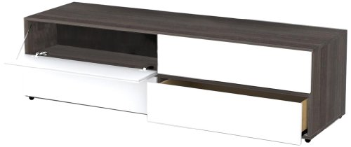 31n28OS1FJL Nexera 221133 Allure TV Stand, 60 Inch, Ebony and White