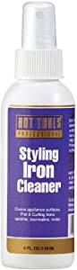 HOT TOOLS 1155 Curling Iron Cleaner White Bottle/Purple Label, 4 Ounce