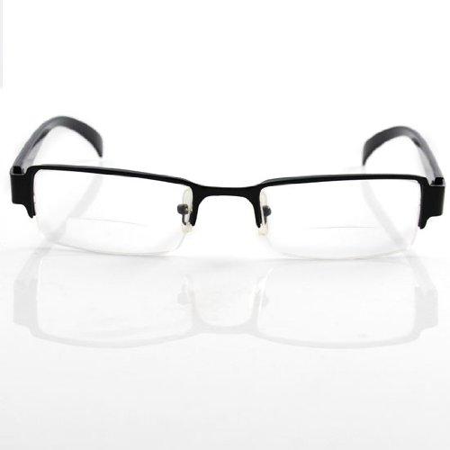 Thg Bifocal Presbyopic Reading Glasses Black Frame Eyewear Reader Magnifying Vision Spectacle +1.50D front-930405